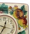 Orologio in ceramica decoro melograno uva