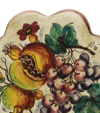 Appoggia pentola decoro uva e melograno