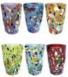 Bicchiere Arlecchino Bibita colori misti