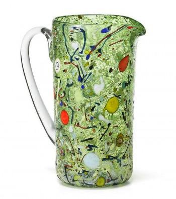 Caraffa Cilindrica Arlecchino verde