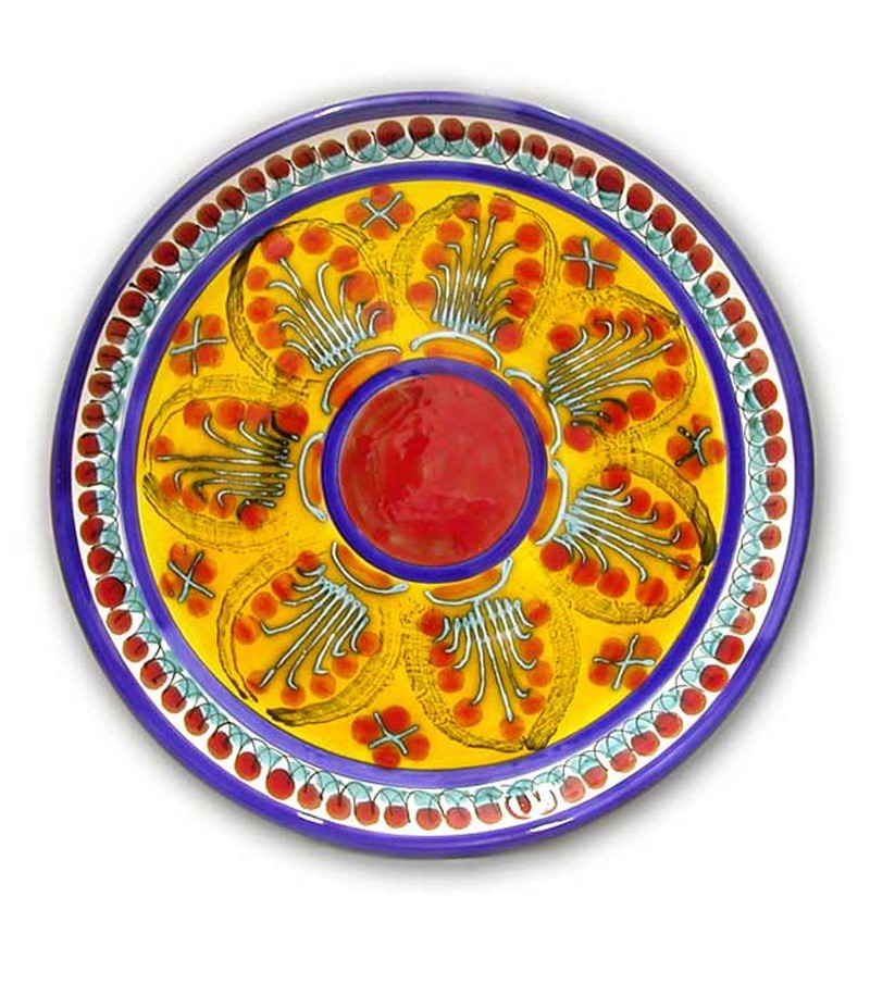 Hand-painted Sicilian ceramics with Mimosa decoration