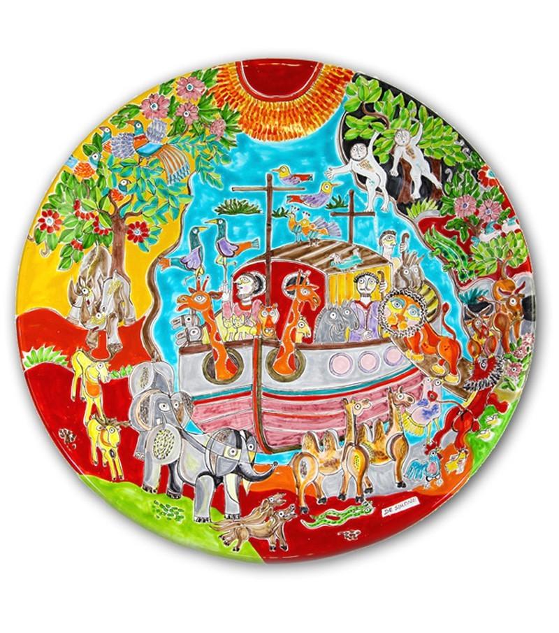 Piatti in ceramica dipinta a mano con decoro Cubismo