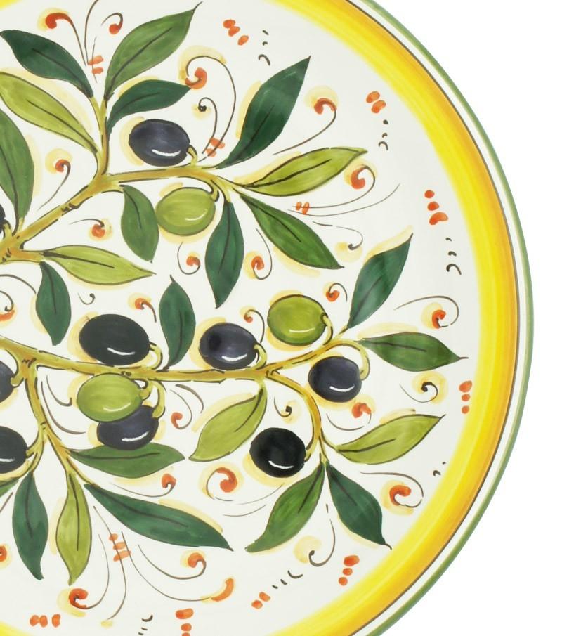 Ceramiche della Toscana dipinte a mano con decoro olivo