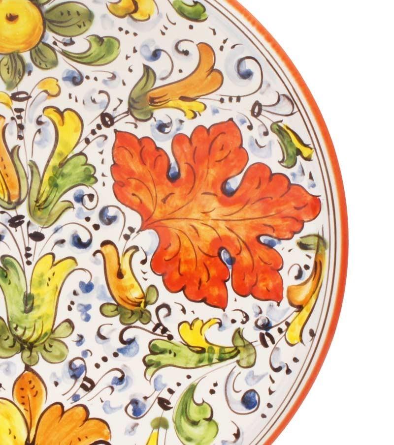 Ceramiche della Toscana dipinte a mano con decoro Cafaggiolo