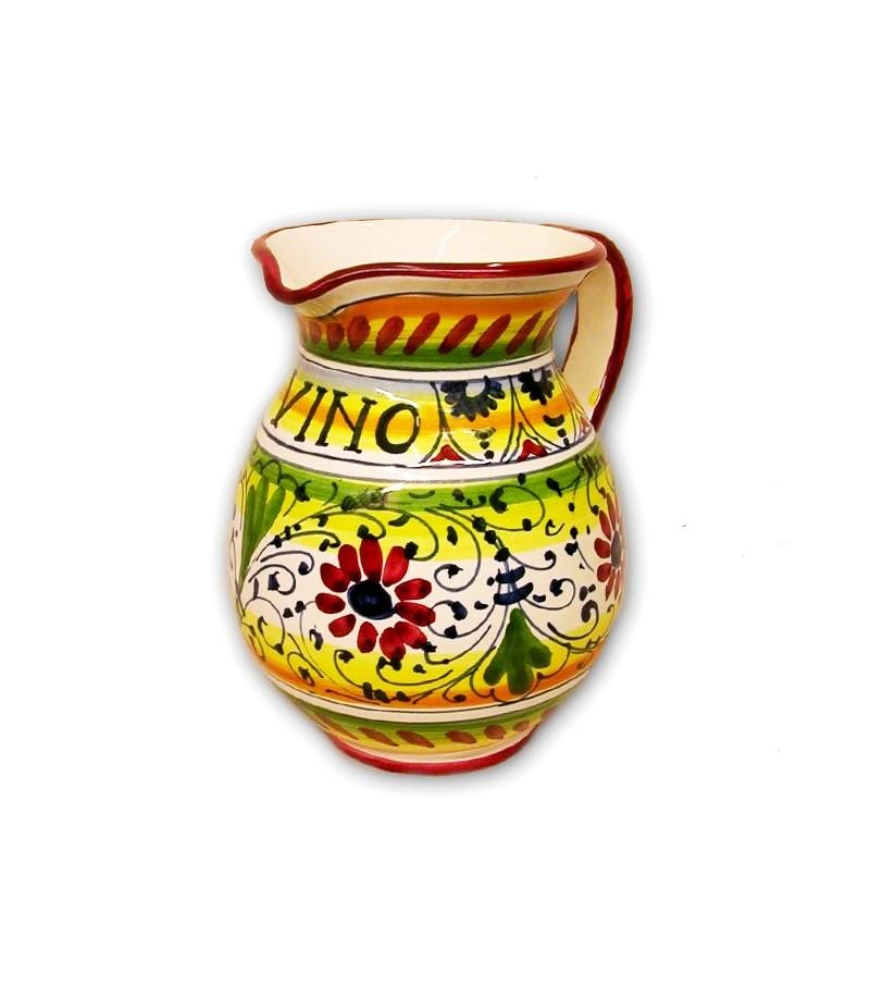 Hand-painted Tuscan ceramics geometric red decoration