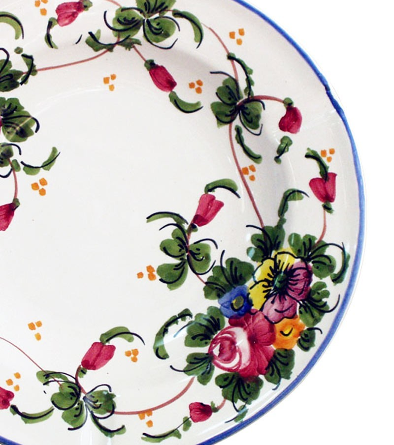 Ceramiche d'Abruzzo dipinte a mano con decoro Mazzetti